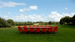Meeting table in the countryside