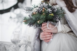 Snowy wedding