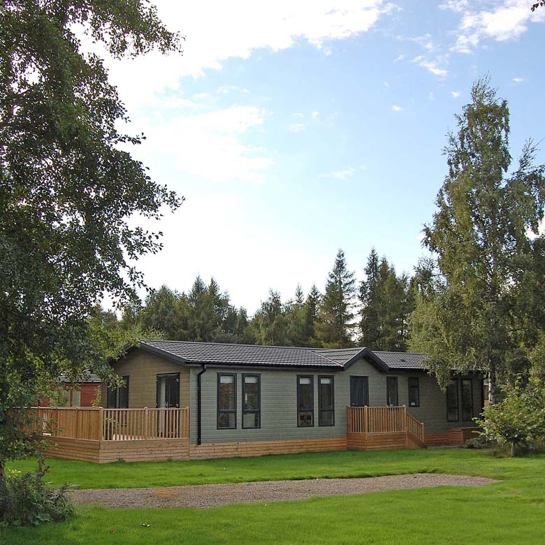 lodges in spacious location