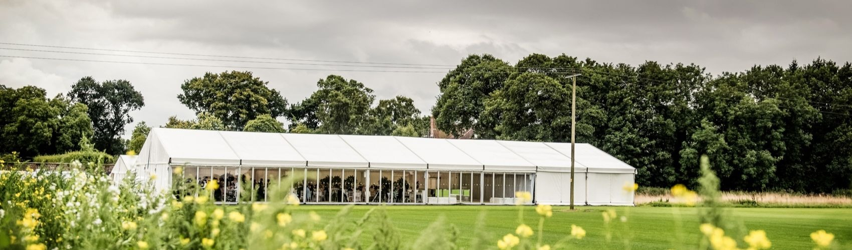 Skipwtih Hall marquee weddings outdoor venue Selby York