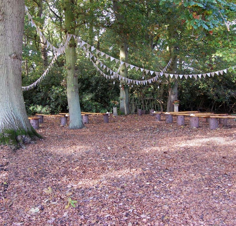 Outdoor Wedding Ceremony Yorkshire: Woodland Weddings:: Escrick